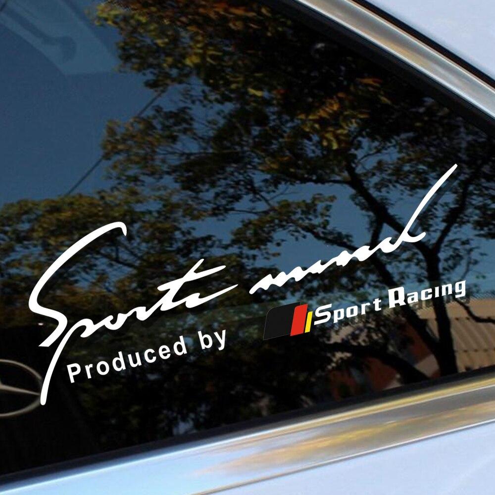 Car Styling Reflective Sport Racing Window Sticker Windsheild decal For Mercedes Benz A C CLA class w205 w211 w204 c200 w203 AMG Mercedes-Benz CLA-класс