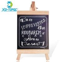 XINDI 16 29cm Desktop Message Blackboard Pine Wood Easel Chalkbord Kids Wooden Memo Black Board Collapsible