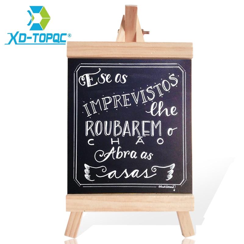 XINDI 16*29cm Desktop Message Blackboard Pine Wood Easel Chalkboard Kids Wooden Memo Black Board Collapsible Writing Boards BB71