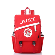 Canvas backpack Korean version of the middle school students backpack casual backpack large capacity travel bag three-use bag недорого