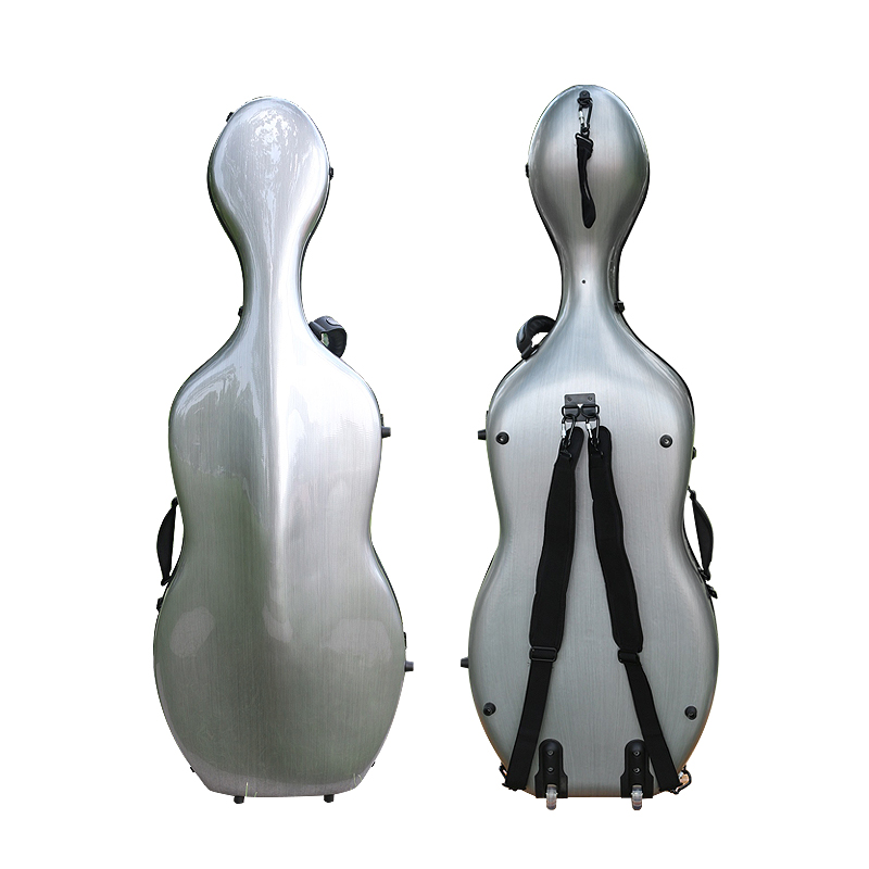 4/4 cello case full size Cello accessories composite material high strong light &strong two wheels ~More color free shipping 2017 china cheapest ebike crank motor