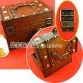 28 * 45 * 22 MM 30 unids cinco hoyos joyería vintage caja de madera bisagras muebles antiguos bisagras para gabinete accesorios de hardware