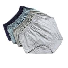 Algodão 4 pçs lote big pluz tamanho cuecas cuecas confortáveis dos homens  velhos underwear xl 2xl 3xl 4xl 4 pçs lote aw6226 8bbd5e2ce8d