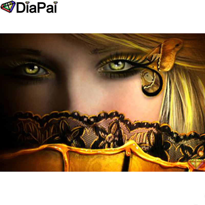 "DIAPAI 5D DIY Diamond Painting 100% Full Square/Round Drill ""Beauty character"" Diamond Embroidery Cross Stitch 3D Decor A22799(China)"