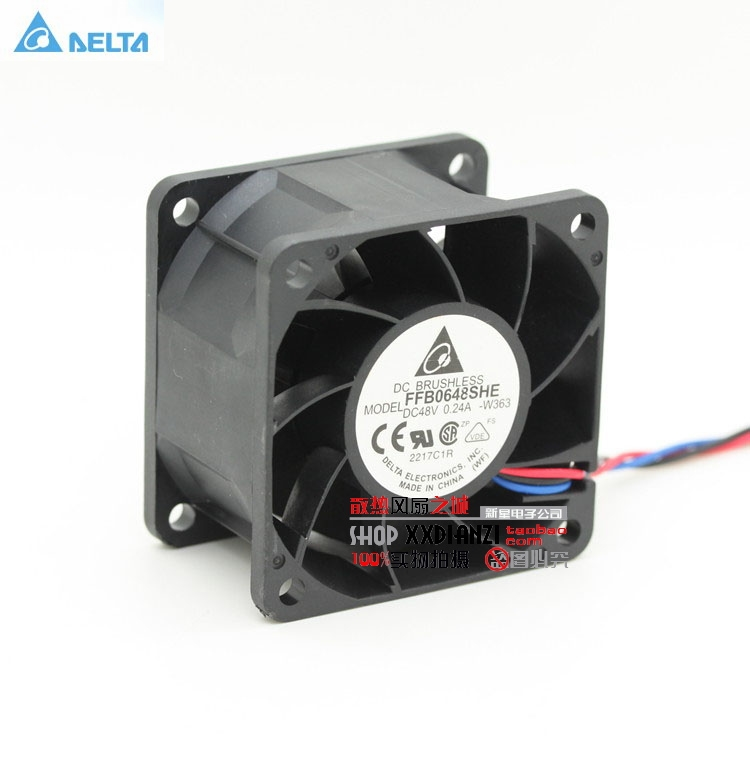 Original Delta FFB0648SHE 6038 6cm 48V 0.24 dual ball bearing cooling fan original delta afb0912shf 9032 9cm 12v 0 90a dual ball bearing cooling fan