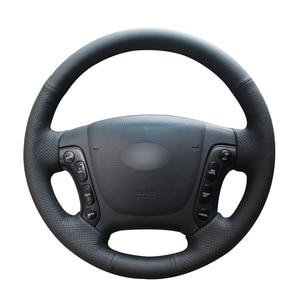 Image 1 - Zwart Pu Kunstleer Auto Stuurhoes Voor Hyundai Santa Fe 2007 2008 2009 2010 2011 2012