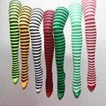 Frete Grátis 2 PCS Moda Meninas Listras Coloridas Calças Justas de Nylon e Poliéster Clássico Listras Da Zebra Legwear Meia-calça Para Mulheres