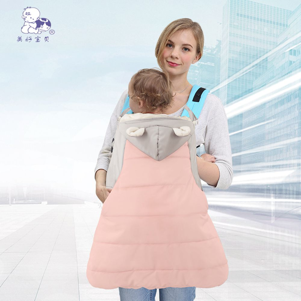 2018 Brand New Warm Wrap Sling Baby Carrier Windproof Baby Backpack Blanket Carrier Cloak Grey Funtional Winter Cover Hot Sale Price Backpacks & Carriers