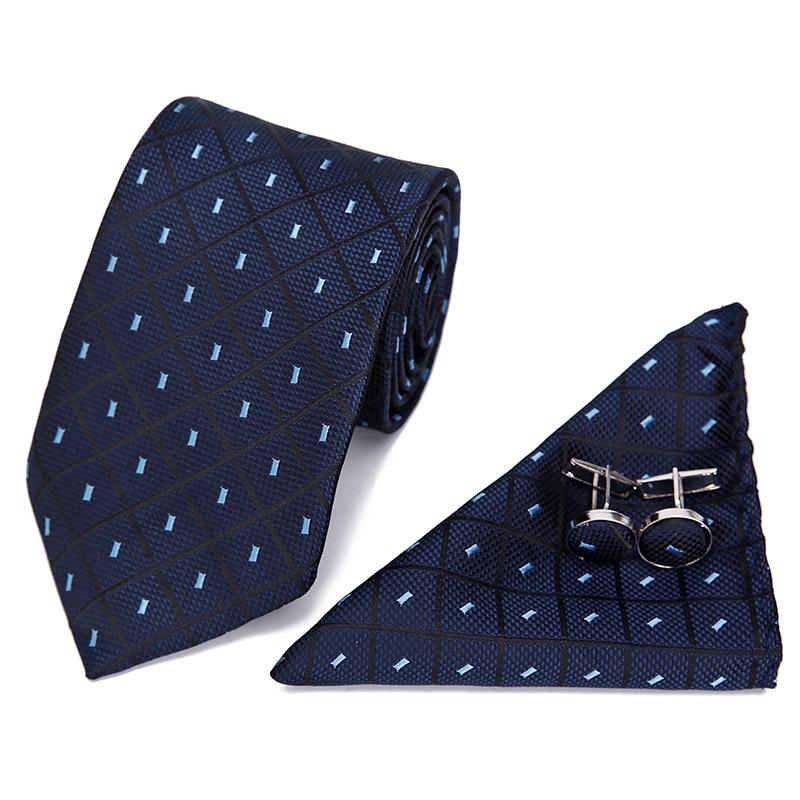 Red Black Blue Paisley Tie Hanky Cufflinks Sets Men's 100% Silk Ties For Men Formal Wedding Party Groom Luxury Male Gravatas