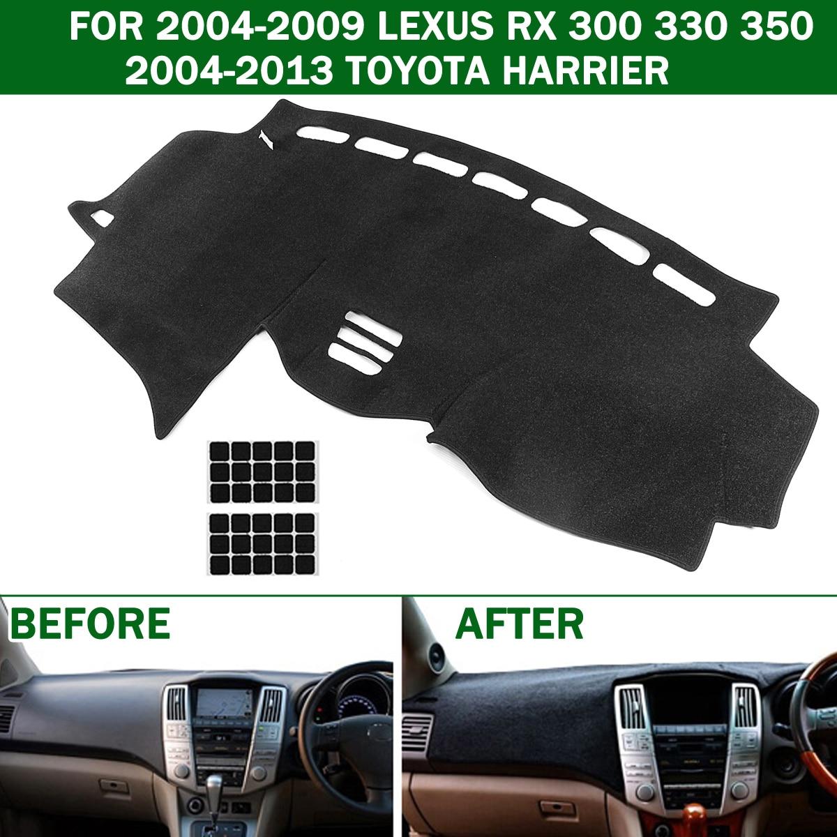Autoleader dashmat carro painel esteira traço placa capa almofada para lexus rx 300 330 350 2004-2009