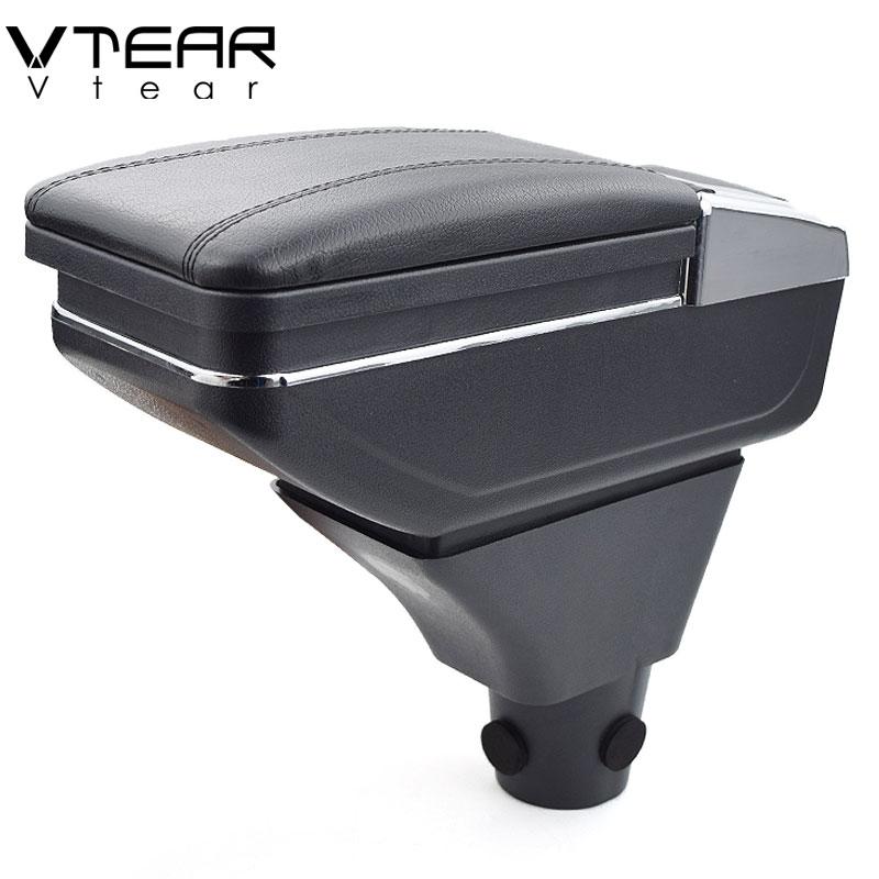 купить Vtear For Dacia sandero armrest box central Store content box cup holder ashtray interior car-styling decoration Accessories по цене 2273.16 рублей