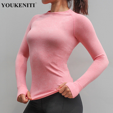 Sport Shirt Women Running Long T-shirt Gym Qucik Dry Yoga Top Sports Bra Fitness Clothings