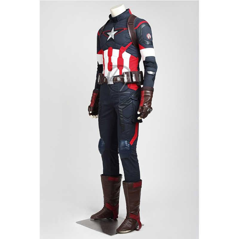 Marvel Avengers 2: Tuổi Ultron Đội Trưởng Mỹ Trang Phục Hóa Trang Steve Rogers Trang Phục Siêu Anh Hùng Trang Phục Vận Chuyển Nhanh