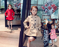 2016 Baby Girls Wind-proof Jacket Girls Long-style Fashion Outerwear Jacket Kids Double-breasted Coat With Belt