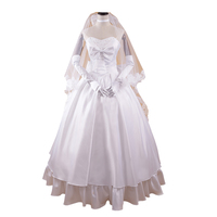 brdwn Fate Stay Night/Fate Zero Women's Altria Pendragon Saber Cosplay Costume Dress Wedding Gown Rode Evening Dress