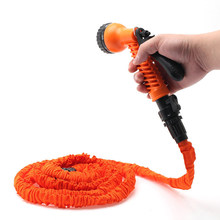 Garden Hose 25-200FT Expandable Magic Flexible Garden Water Hose For Car Hose Pipe Plastic Hoses To Watering With Spray Gun(China)