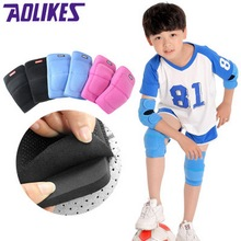 AOLIKES Kids Sports Elbow Pad And Knee Pad Set Thick Sponge Skate Dance Kneepad Elbow Brace Support Knee Protectors For Children