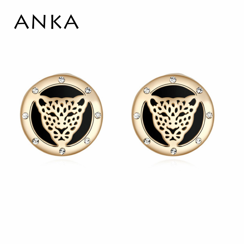 2018 Top Fashion Leopard Crystal Earring Special Trendy Women Crystal Animal Brand Style Gold Color Christmas Gift #104210