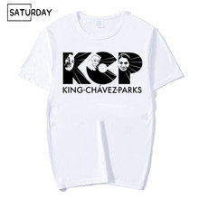 Men Martin Luther King And Rosa Parks and Chavez Funny Print Fashion T-shirt Unisex White Hipster Mens Streetwear