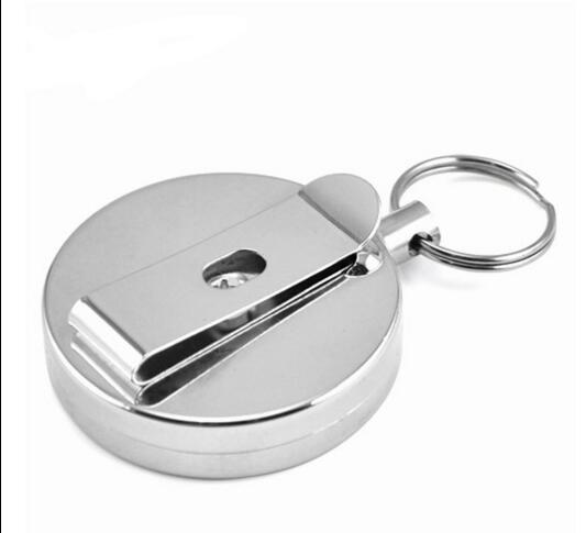 50 PCS Stainless Steel Retractable Key Chain Recoil Key Ring Heavy Duty Steel 60cm stainless steel rope nylon coating key clip-in Key Chains from Jewelry & Accessories    2