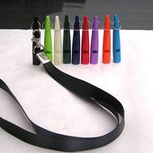300 шт./партия, 80 мм, собачий щенок, тренировочный свисток, Бесшумный ультразвуковой цвет, со шнуром, свистки для собак, пластик, высокое Кач