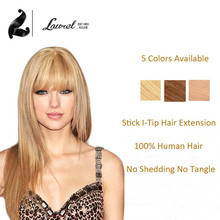 Remy Straight Hair Blonde Stick I Tip Hair Extensions Color #27 #30 #130 Available 16 20 24Inch I Tip Fusion Hair Extensions