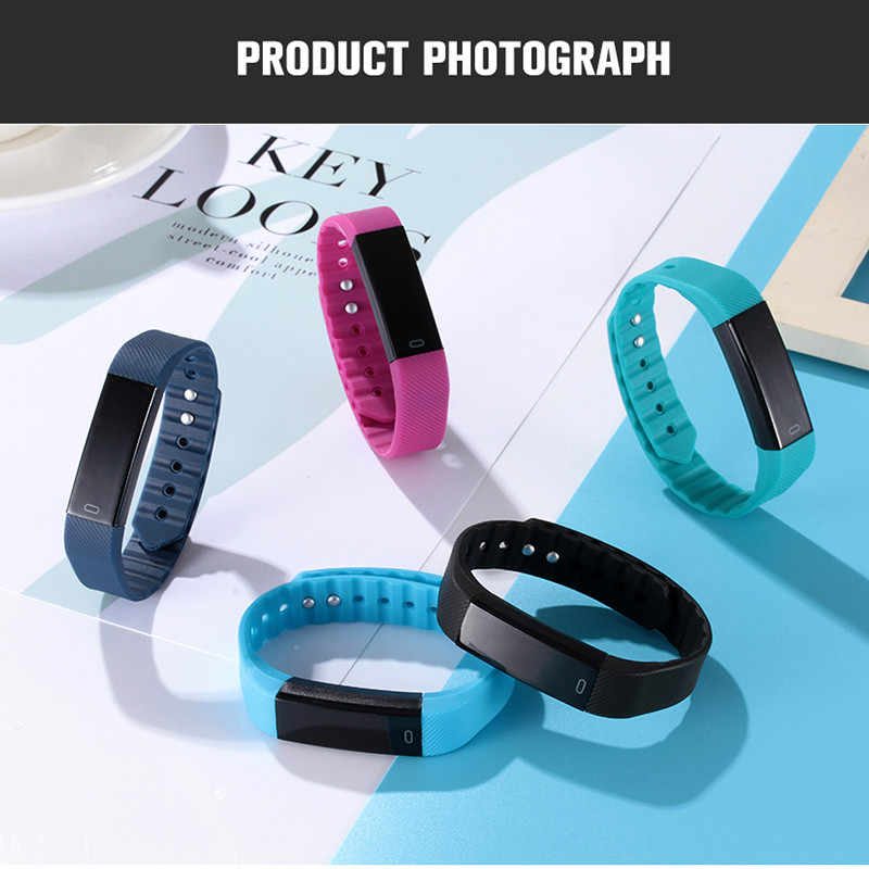 Schnoah ID115 عداد الخطى ساعة ذكية الوقت تاريخ عرض ساعة معصم خطوة عداد Montre بلوتوث اتصال ساعة pk Fitbits