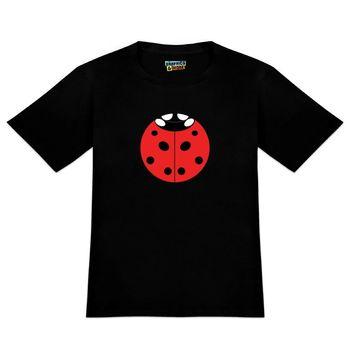 Uğur böceği uğur böceği böcek erkek yenilik T-Shirt T shirt erkek siyah kısa kollu pamuk Hip Hop T-Shirt baskı Tee gömlek
