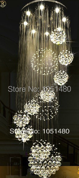 new luxury crystal chandelier lighting fixtures modern crystal lamp wideth 80cm staircase chandelier