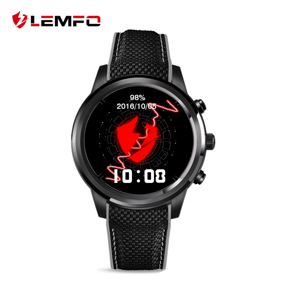 LEMFO LEM5 Android 5 1 MTK6580 1GB 8GB font b Smart b font Watch Phone Bluetooth