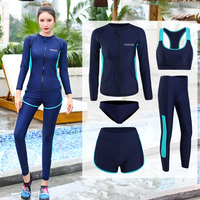 5 sets Yoga Set Women Fitness Clothing Sportswear Woman Gym Leggings Long Sleeve Sports Bra GYM Sports Suits Beah Wear Swimwear