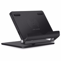 Fast Wireless Charger Stand Aluminum Universal Phone And Tablet Stand QI Wireless Charging Stand For IPhone