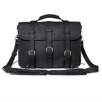 J.M.D 100% Crazy Horse Leather Men\'s Business Briefcases Dispatch Travel Bag - DISCOUNT ITEM  15 OFF Luggage & Bags