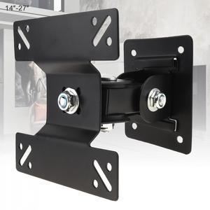 Image 1 - Регулируемый настенный кронштейн для телевизора 14   27 дюймов, 15 кг, Плоский Кронштейн для ТВ с рамкой, вращение на 180 градусов, светодиодный ЖК монитор