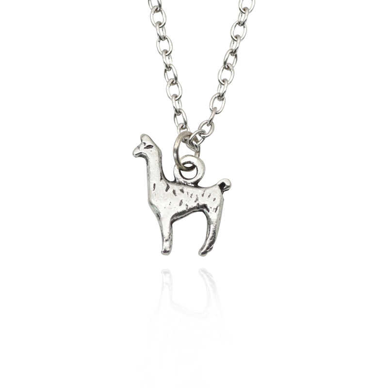New Personality Retro Alpaca Pendant Necklace Fashion Silver Alloy Animal Necklace&Pendants Men And Women ForBest Friends DIY