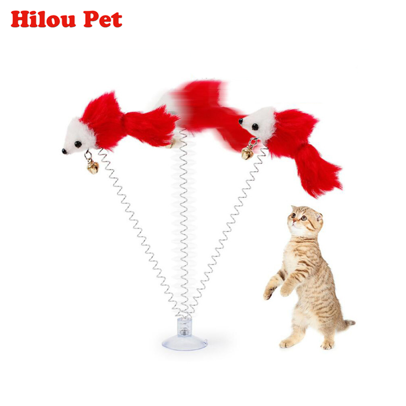 3pcs Funny Pet Cat Toys Plush False Mouse Bottom Sucker Cat Kitten Playing Toys Pet Seat Scratch Toy For Cat Supplies
