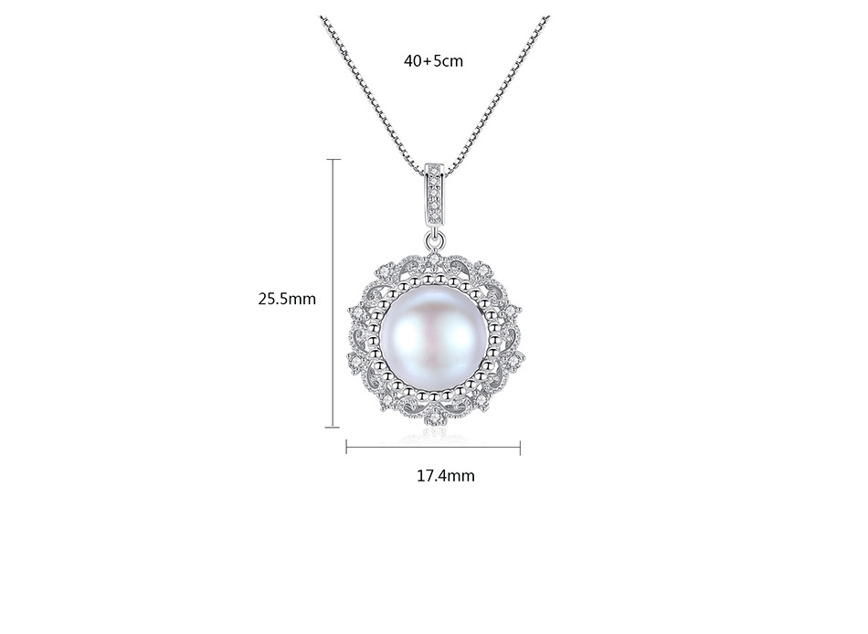 New sterling silver pearl necklace micro set 3A zirconium Wild female clavicle necklace G04