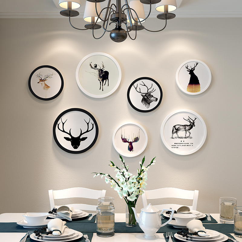 Европейский стиль домашний дизайн Свадебная любовь фоторамка украшение стены деревянная фоторамка набор настенная фоторамка набор, белый черный - 4
