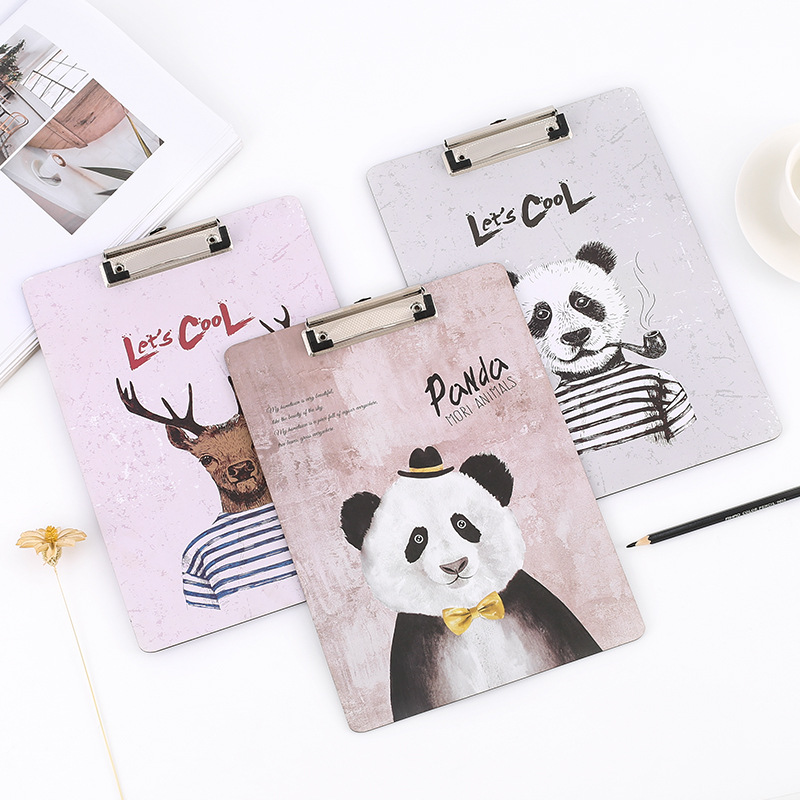 Coloffice 1 pcs A4 cool animals Printed Clipboard as Writing Pad for School Office Writing Supplies , Document Paper Clips reconstructing printed document using text based steganography