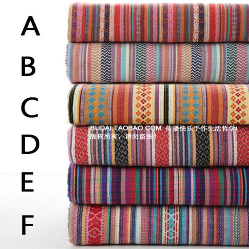 Free shipping ombre strip cotton fabric,Imitation linen cotton textile,Print design 45cm*145cm wedding decoration 026020009