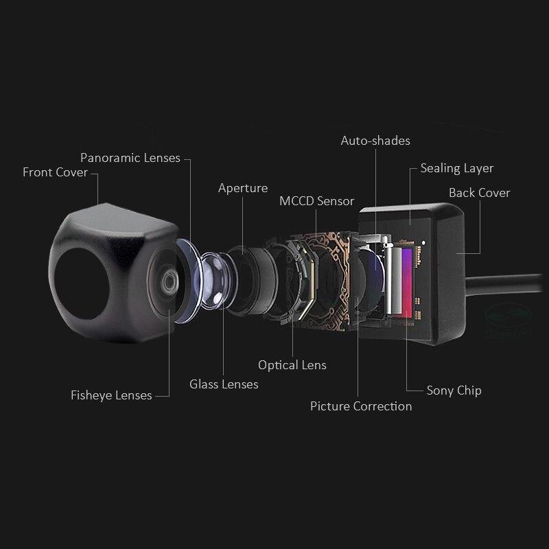 GreenYi 2In1 駐車場システム 170 度魚眼レンズ車のリアビューカメラ 5 インチモニター、逆転バックアップカメラ  グループ上の 自動車 &バイク からの 車両カメラ の中 2