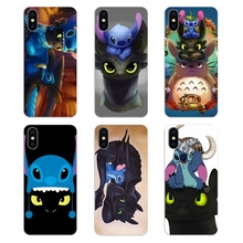 79707dd79a1 Silicone Phone Shell Cover Toothless Dragon And Stitch Print For Xiaomi  Redmi 4X S2 3S Note