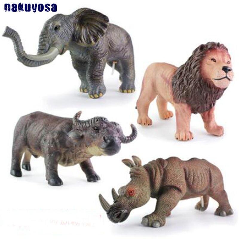 Figures Simulation-Sound Plastic Elephants Animal-Model Cattle Gifts Children Lions No