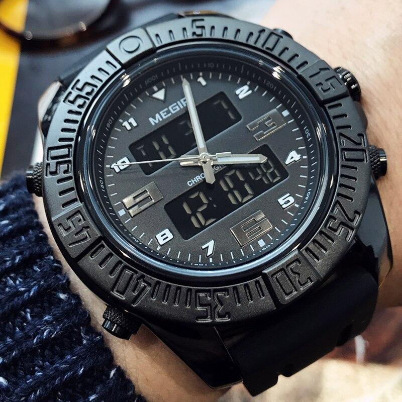 все цены на Top Luxury Brand Sport Watch Men's Fashion Rubber Quartz Analog Watch Quartz Military Waterproof Wristwatch Clock Stopwatch онлайн