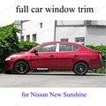 Edelstahl Außen Autozubehör dekoration streifen Für n issan New Sunshine volle Fensterverkleidung mit mittelsäule-in Chrom-Styling aus Kraftfahrzeuge und Motorräder bei