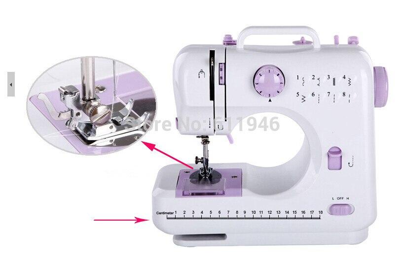 1 PC 505A multi-fonction 8 types de trajectoire Mini Machine à coudre électrique remplaçable pied-de-biche