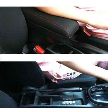 Personalized Modification Decoration Protecter Automobile Auto Styling Arm Rest Car Armrest 08 09 10 11 12 13 14 FOR Honda Fit