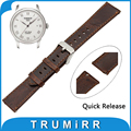 20mm Genuine Leather Watch Band Quick Release Strap for Tissot 1853 T035 T087 T097  Replacement Belt Wrist Bracelet Brown