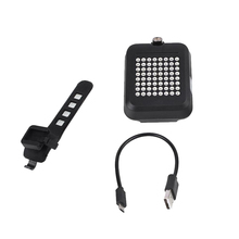Bike Turn Light Smart Bicycle Taillight Charge Lamp Safty Plastic Easy to Carr Extremely Long Service Life