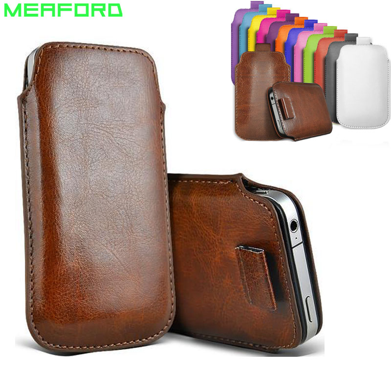 For iPhone 7 Case Pull Tab Sleeve Cover Portable Pocket Pouch PU Leather Phone Bag For iPhone 6 6s 7 8 Universal Case 4.7 Capa ...
